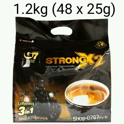 AU39.99 • Buy 48 Sachets X 25g Vietnam Trung Nguyen G7 STRONG X2 Instant Coffee 3in1 Coffeemix