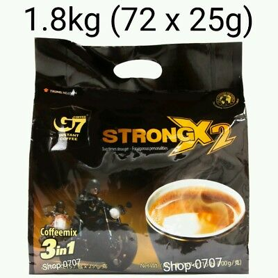 AU52.99 • Buy 72 Sachets X 25g Vietnam Trung Nguyen G7 STRONG X2 Instant Coffee 3in1 Coffeemix
