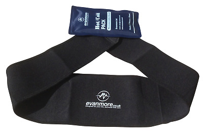 Reusable Large Hot Cold Pack Ice Gel Compress Wrap Belt Cuff Cover Pain Relief • 11.61£