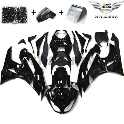$409.99 • Buy NT Injection Glossy Black Fairing Fit For Kawasaki 2009-2012 ZX6R 636 Kit S03