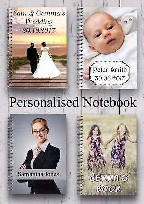 £6.99 • Buy  Personalised Notebook Diary Gift Custom Printed Photo/text A5 Notepad