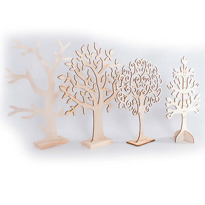 Wooden Jewellery Stand Tree Display Organiser /Earring Necklace Holder Craft Cut • 7.79£