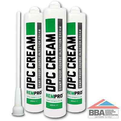 £24.99 • Buy Rempro 3 X BBA Damp Proofing Course Cream - DPC Wall Injection Treatment Control