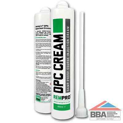 £12.99 • Buy Rempro 1 X BBA Damp Proofing Course Cream - DPC Wall Injection Treatment Control