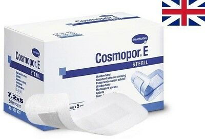 £4.61 • Buy Cosmopor E Sterile First Aid Absorbent Adhesive Wound Dressing (Size Selection)
