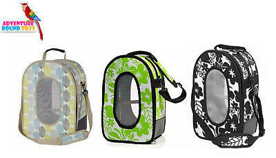 Adventure Bound Cage Bird Parrot Parakeet Canvas Carrier Travel Bag 2 Sizes • 42.95£
