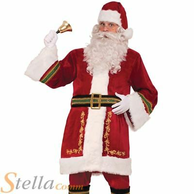 £57.99 • Buy Adult Classic Santa Claus Costume Plush Regal Father Christmas Mens Outfit