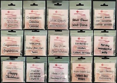 Woodware Singles Clear Stamps Many To Choose From. REDUCED TO CLEAR! • 1.15£