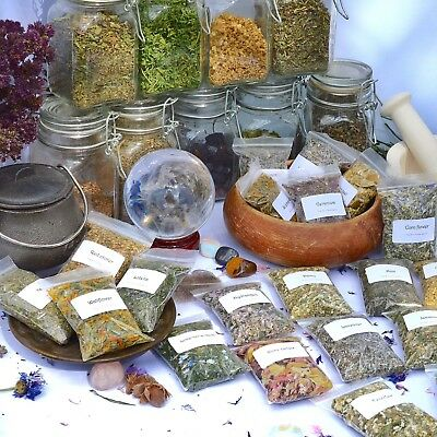 Dried Herbs For Wicca,witchcraft,spells,magic,incense,crafts A~C (Choice Of 250) • 2.99£
