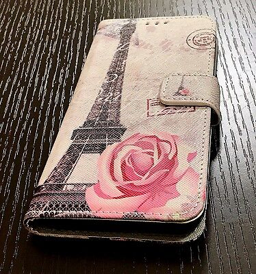 $ CDN12 • Buy For Samsung Galaxy S8 - Card Wallet Diary Pouch Case Paris Eiffel Tower Flower