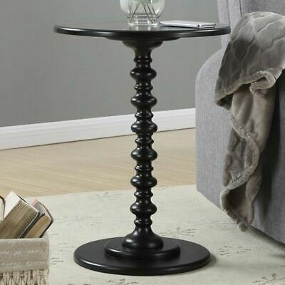 $72.90 • Buy Black Painted Spindle Accent Table Round Top End Side Pedestal Wooden Furniture