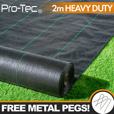 £19.99 • Buy 2m Wide 100gsm Weed Control Fabric Ground Cover Membrane Landscape Heavy Duty
