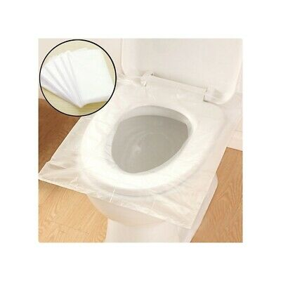 £4.99 • Buy Disposable Waterproof Toilet Seat Covers Hygienic Travel Plastic Mat Travel Pack
