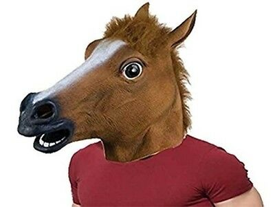 £12.95 • Buy Halloween Adult Horse Head Mask Rubber Panto Cosplay Costume Fancy Dress Party
