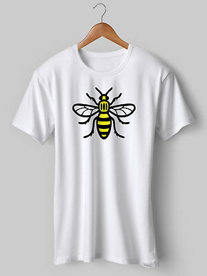 Manchester Bee T-Shirt Worker Anniversary United City Oasis NEW Printed • 9.99£