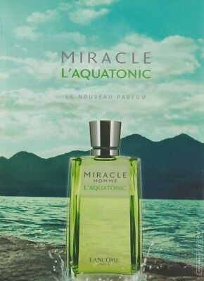 Publicité Papier - Advertising Paper - Miracle L'Aquatonic Homme De Lancome • 1.64£