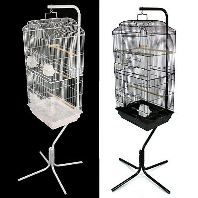 £54.99 • Buy Large Metal Bird Cage With Stand Budgie Canary Parakeet Cockatiel Finch Lovebird