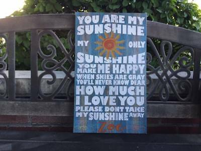 You Are My Sunshine Custom Canvas, Personalize For FREE, Sweet Gift Idea • 22.58£