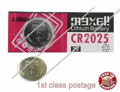 £0.99 • Buy 3V CR2025 BR DL ECR Lithium Button Cell Battery, Maxcell Car Key Fob Remote UK