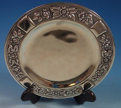 $309 • Buy Aztec Rose By Maciel Mexican Mexico Sterling Silver Dessert Plate 8  (#1765)