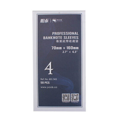 £2.36 • Buy 50pcs Soft OPP Professional Banknote Sleeves For Paper Money Currency 70*160mm