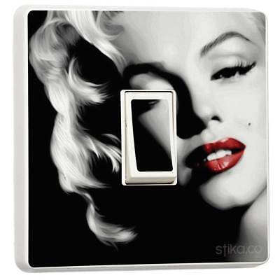 Marilyn Monroe Light Switch Sticker Cover Self-adhesive Vinyl Skin By Stika.co • 2.39£