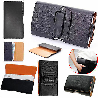 £3.49 • Buy Universal Leather Belt Clip Wallet Hip Book Case Cover For Various Mobile Phones