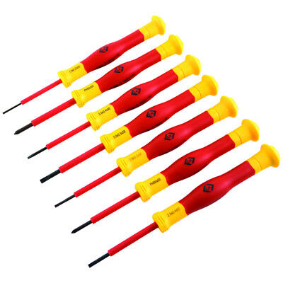 £17.90 • Buy CK T4897 7 Piece VDE Micro Precision Screwdriver Set Slotted & Phillips