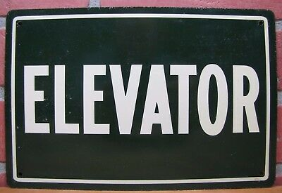 $175 • Buy Old   ELEVATOR   Sign Metal Tin Litho Advertising Leslie Sign Co , Chicago Ill