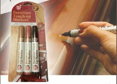 £3.29 • Buy 3 Pcs Furniture Marker Pens Laminate Wood Floor Scratch Repair Touch Up Markers