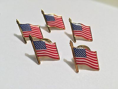American Flag Lapel Pin *MADE IN USA* Lots 1 5 10 25 100 Memoial Day 4th Of July • 7.95£