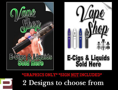 AU52.09 • Buy A-Board GRAPHIC VINYLS For VAPE SHOP E-Cig PAVEMENT SIGN ADVERTISING DISPLAY