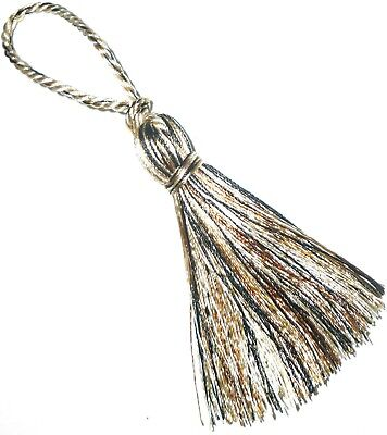 Small Silky Key Tassels, X4, Multi-cream/beige/black, Cushions/curtains Art 9778 • 3.99£