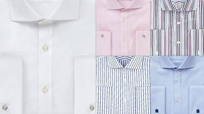 Mens Shirt Sartorial Regular Fit Luxury Cotton French Double Cuff • 14.99£