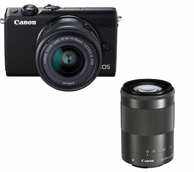 View Details CANON EOS M100 Mirrorless Camera With EF-M 15-45 Mm F/3.5-6.3 IS STM & 55-200 Mm • 399.00£