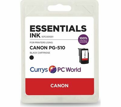 ESSENTIALS PG-510 Black Canon Ink Cartridge - Currys • 9.99£