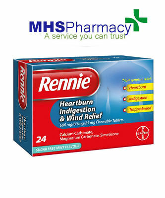 Rennie Heartburn, Indigestion And Wind Relief Chewable Tablets 24s New  • 6.49£