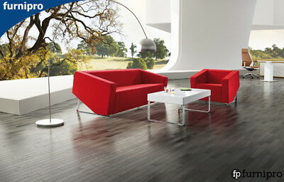 AU825 • Buy Office Stylish Single, Double, Three Seater Lounge Genuine Black Or Red Leather
