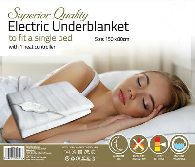 Electric Underblanket For Single Or Double Bed Comfortable And Ultra Durable  • 17.99£