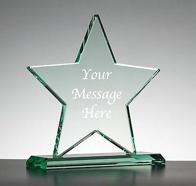 £25 • Buy Personalised Engraved Clear Glass Star - Best In Show Award Trophy On Base