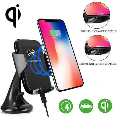 $ CDN23.97 • Buy Wireless Car Holder + 2 USB Port Charger For Samsung Galaxy S10 Apple IPhone 11