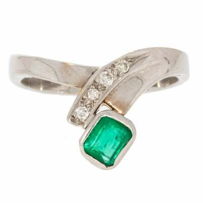 Unusual Colombian Emerald And Diamond Ring • 1,186.50£
