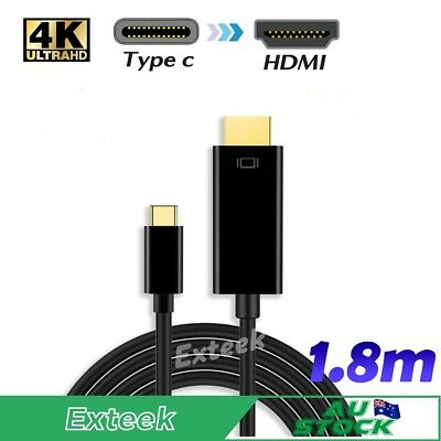 AU10.95 • Buy New USB C To HDMI Cable (5.9ft/1.8m)USB 3.1 Type C Male To HDMI Male 4K Cable