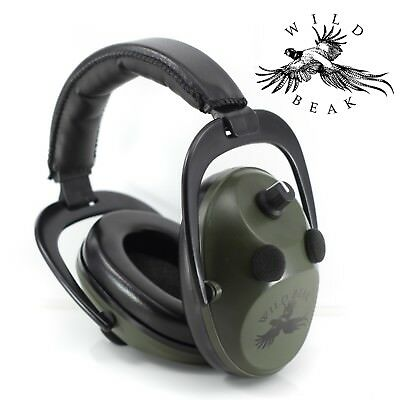 Pro Stereo Electronic Ear Defenders/Muffs Clay Pigeon Shooting Shotgun Hunting • 34.99£