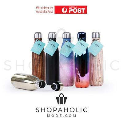 AU14.92 • Buy Stainless Steel 500ml Insulated Drink Bottle Double Wall Cold Hot  Water