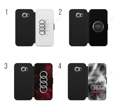 £9.39 • Buy Audi Logo S Line Audi RS Wallet Flip Case Cover For IPhone X & Samsung Galaxy