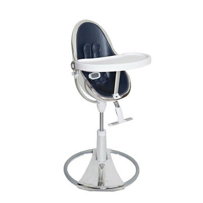 Baby Highchair Fresco Chrome Limited Edition Silver/Navy Blue Bloom • 688.99£