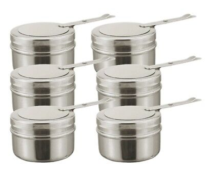 £24.99 • Buy Set Of 6 Chafing Fuel Holders Spare Fuel Holder 18/8 Stainless Steel 9cm X 6.5cm