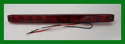 $19.79 • Buy Maxxima 15  Long Surface Mount Rectangular Stop Turn Tail Strip Light 10 Red LED