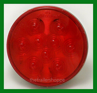$13.95 • Buy Maxxima Red 4  Round Stop Turn Tail Park Light 9 LED STT Truck Trailer Bus